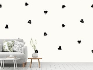 Hand Drawn Hearts Pattern