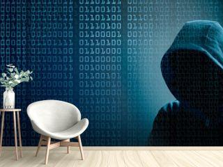 the dark web  hooded hacker banner