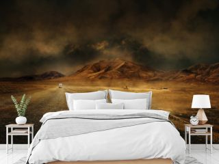 montagne désert vierge route chemin seul climat chaud sécheresse