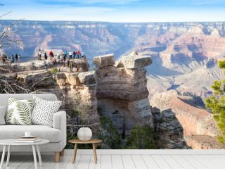 Grand Canyon, South Rim, crowd of tourists