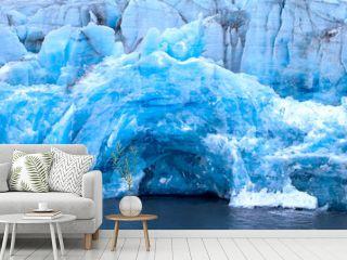 Harsh glaciers of Arctic. Live glacier