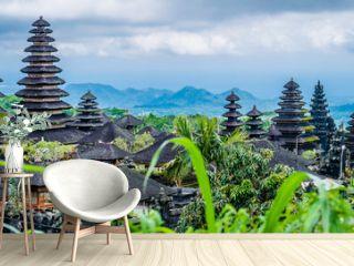 Roofs in Pura Besakih Temple in Bali Island, Indonesia