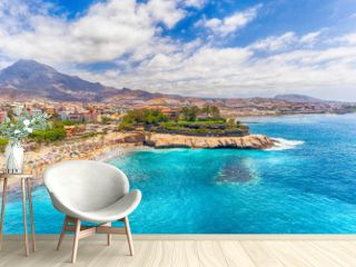 El Duque Beach aerial view in Tenerife, Spain