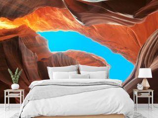 Lower Antelope Slot Canyon aglow with reflected sunlight, Arizona, USA/