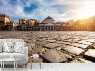 Piazza del Plebiscito in Napoli, Italy. Travel destination