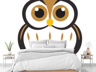 Owl logo design with modern concept, The concept of a simple logo and owl icon
