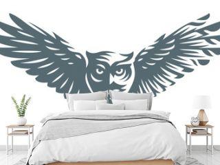 Owl - vector illustration. Icon design on white background
