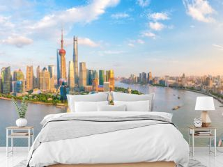 View of downtown Shanghai skyline