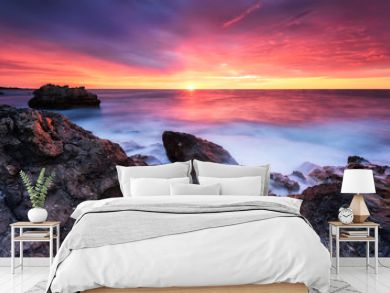 Rocky sunrise /  Magnificent sunrise view at the Black sea coast, Bulgaria