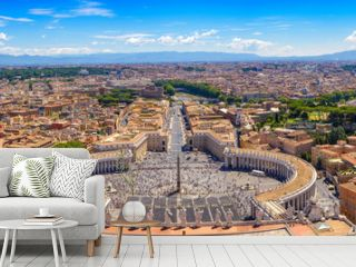 Rome and Vatican panorama city skyline, Vatican, Rome, Italy