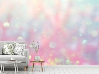 Beautiful abstract background, bokeh light glistening on pink gradient color shades, blurred and magical, perfect as backdrop or wallpaper, it gives a dreamy atmosphere to your design..