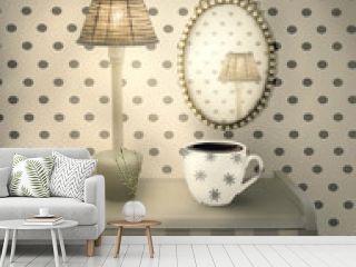 Beautiful interior cozy environment
