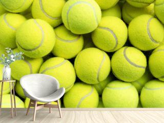 Lots of tennis balls