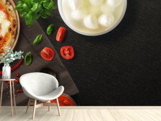 Pizza con ingredienti - copertina FB