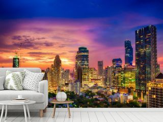 Modern building increasing number in Bangkok