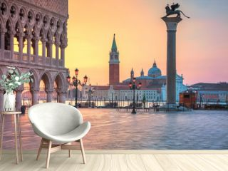Venice. Cityscape image of St. Mark's square in Venice during sunrise.