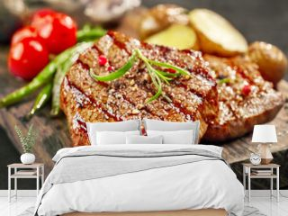 freshly grilled steak