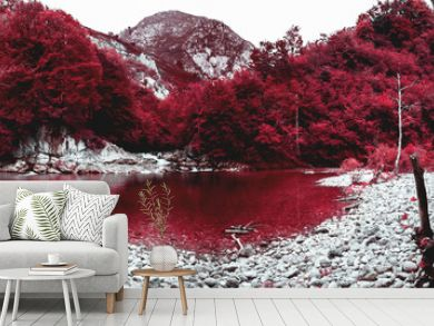 A orillas del estanque rojo. Asturias