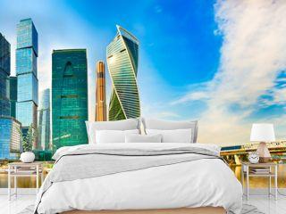 Moscow City skyline. Panorama