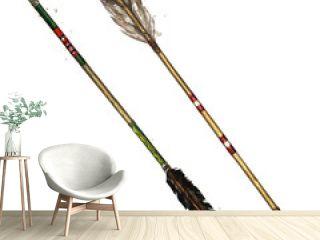 Indian Arrows. Watercolor Illustration.
