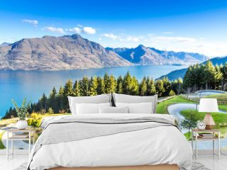 Queenstown in New Zealand. The city of adventure and nature.