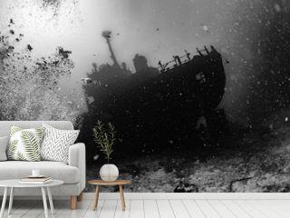 Ship Wreck in maldives indian ocean
