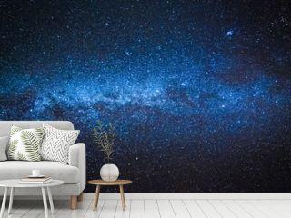 Amazing milky way with million stars at night