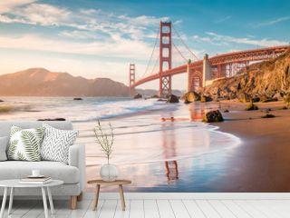 Golden Gate Bridge at sunset, San Francisco, California, USA