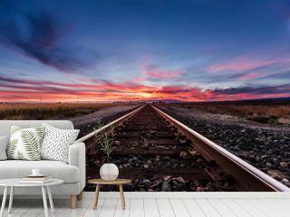Vivid Railroad Sunset