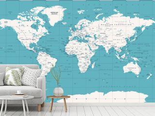 Political Vintage World Map Vector