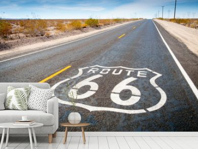Route 66 road sign in Daggett