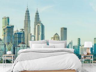 Panorama of Kuala Lumpur in the morning