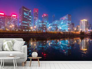 Beijing CBD at night