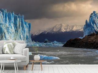 Panorama of the Perito Moreno Glacier