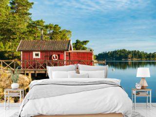 Schärengarten an der schwedischen Küste vor Stockholm