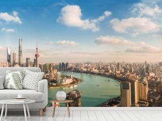 Panorama view of Shanghai city.