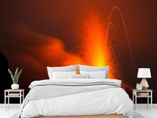 spectacular eruption of volcano