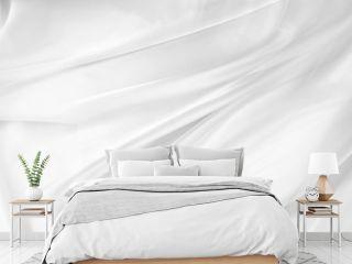 White silk fabric