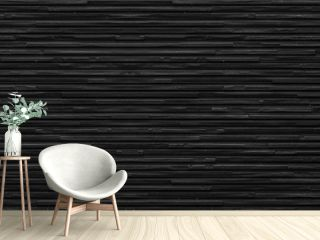 Panorama of black modern stone wall background and pattern