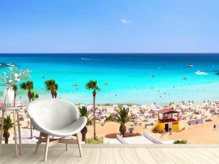 Panorama of Nissi Beach. Ayia Napa. Cyprus.
