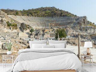 Panorama of Ephesus with its Amphitheatre - Turkey