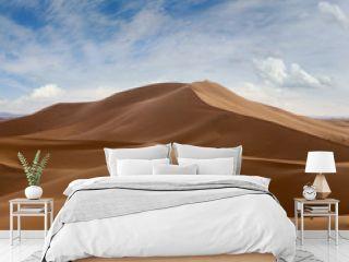 Big sand dunes in Sahara desert