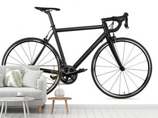 black racing sport road racer bike bicycle racer isolated