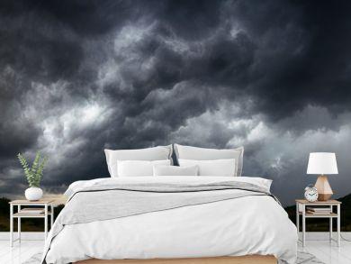 sky with storm clouds  dark