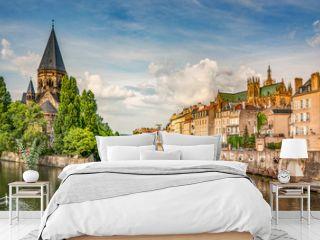 Ville de Metz, France, Moselle et Temple neuf
