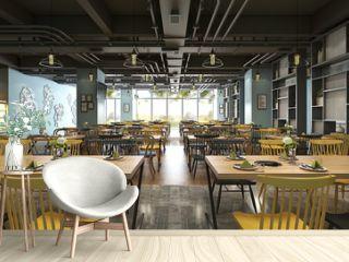 3d render industrial style restaurant