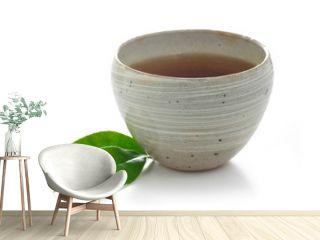 hot japanese hoji tea in a bowl