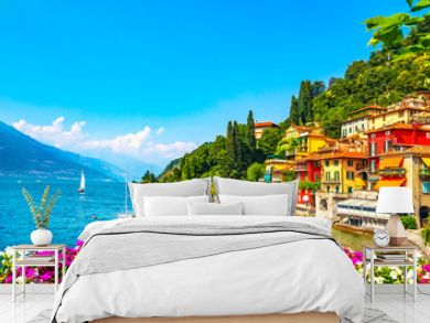 Varenna town, Como Lake district landscape. Italy, Europe.