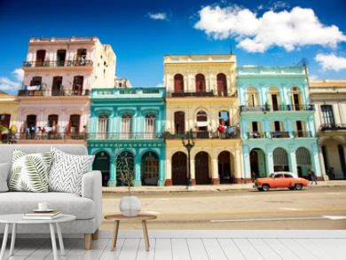 Colonial buildings in Havana, Cuba (High resolution)