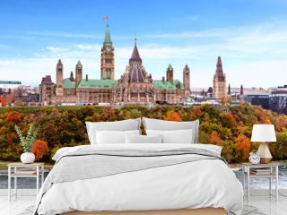 Parliament Hill in Fall, Ottawa, Ontario, Canada